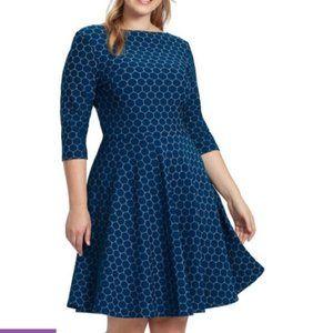 Leota Fit & Flare Circle Dress 2X